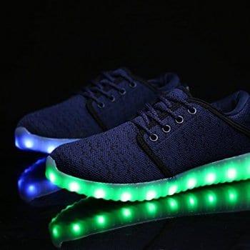 blue led shoes canvas remote control 4