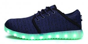 blue led shoes canvas remote control 5
