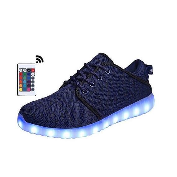 led shoes blue canvas