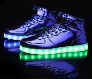 high top blue led shoes