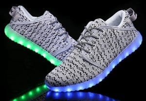 led shoes gray canvas remote 4