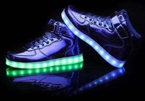 led shoes high top blue