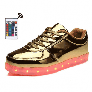 low top gold led shoes remote control