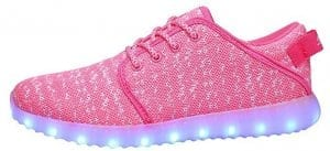 pink canvas led shoes remote 2