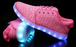 pink canvas led shoes remote 3