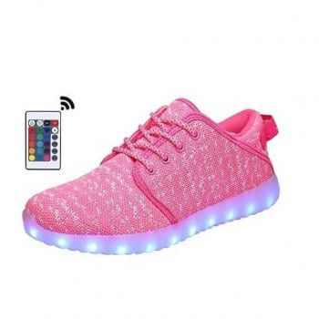 pink canvas led shoes remote