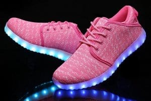 pink canvas led shoes remote 4