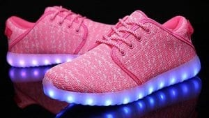 pink canvas led shoes remote 5