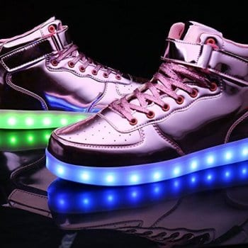 pink high top patent leather led shoes 2