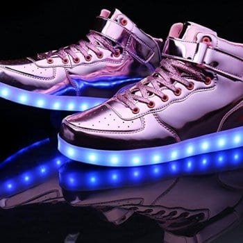pink high top patent leather led shoes 3