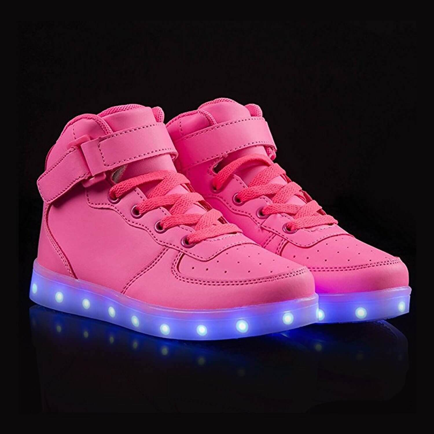 LED Shoes Womens Pink High Top Remote