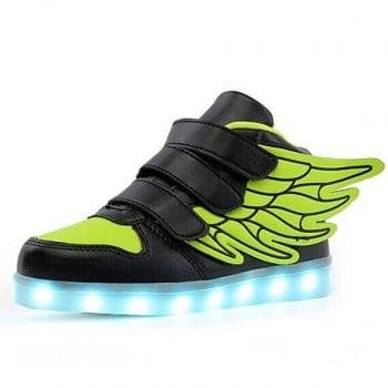 black led shoes wings