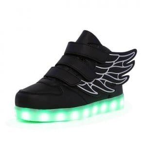 black light up led shoes wings