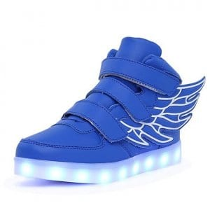 blue wings led shoes