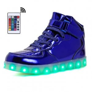 high blue platinum led shoes remote
