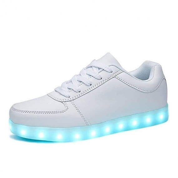 low top white led shoes with remote