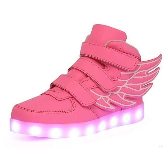 pink wings led shoes