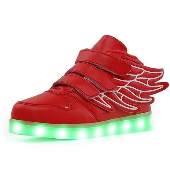 red wings led shoes