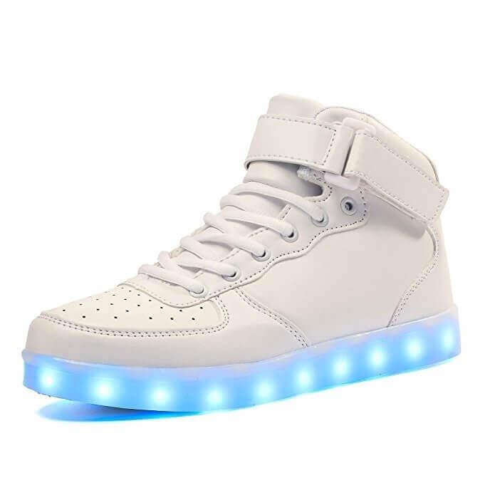 Simulation Led White Shoes