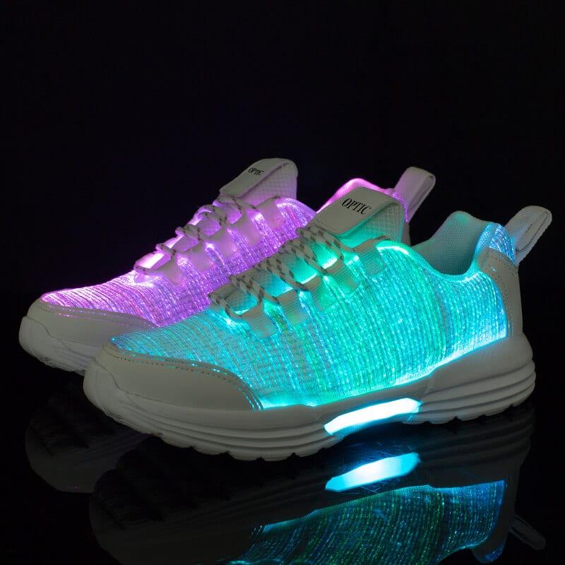 led fiber shoes